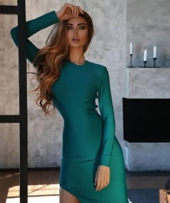 Women Long Sleeves Evening Party Dress Women's Fashion View All Women's Clothing Dresses
