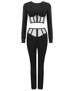 Two Pieces Set Women Long Sleeves Bodycon Women's Fashion View All Women's Clothing Blouse