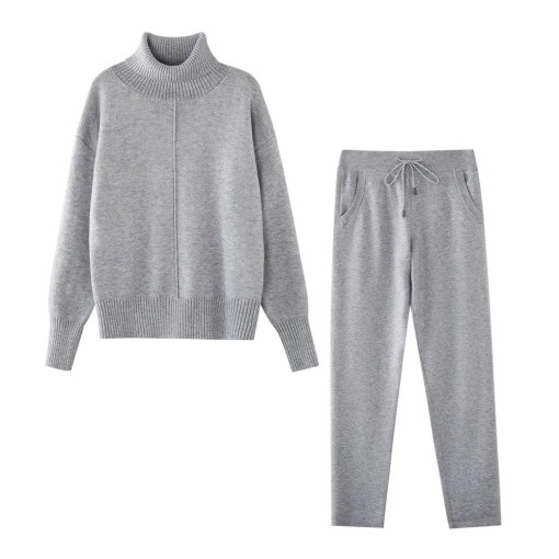 Two Pieces Set Of Sweater With Pant Loose Style Women's Fashion View All Women's Clothing Sweater
