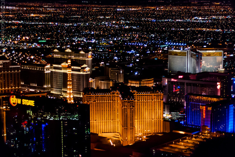 Helicopter ride over Las Vegas Strip
