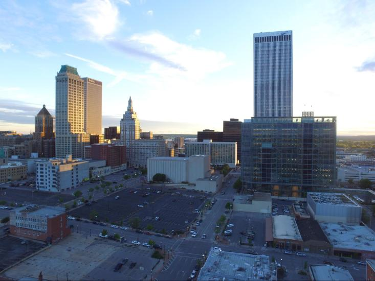 A Beautiful view of Tulsa