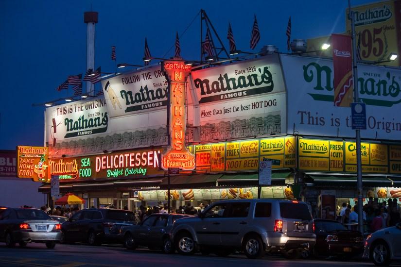 Brooklyn original Nathan's famous hot dog! Coney Island