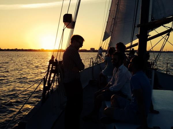 Sunset sailing in Charleston aboard the Schooner Pride