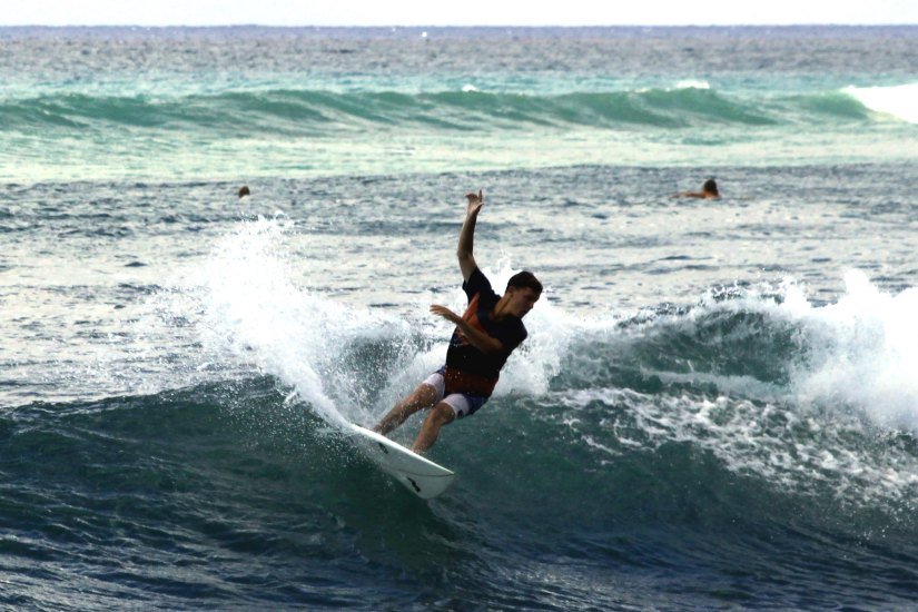 Surfing at Honolulu