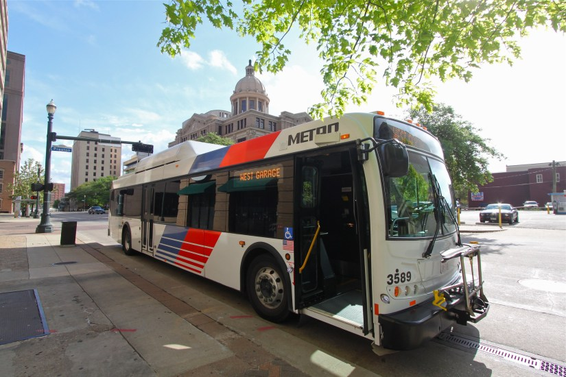 Experience downtown Houston in style with a double-decker tour bus.