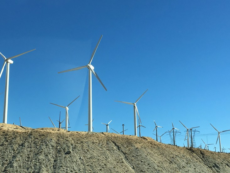 Get up close and personal with the windmills at San Gorgonio Pass, just outside the Palm Springs.