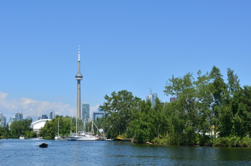 The 553 meter CN Tower is one of the most famous locations in Toronto