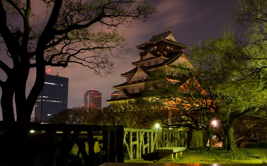 Also known as Osaka Castle, this is one of the most important landmarks in Osaka, Japan.