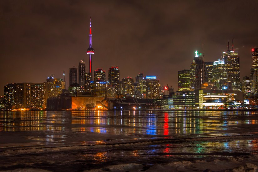 The entire skyline of Toronto is extremely beautiful