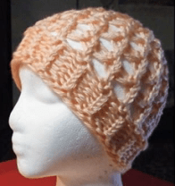 Loom Knitted Netted Hat