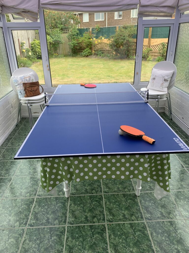 Indoor table tennis ideal for rainy days