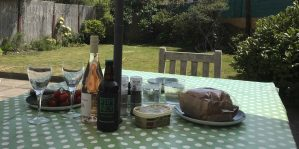 Lunch in the garden