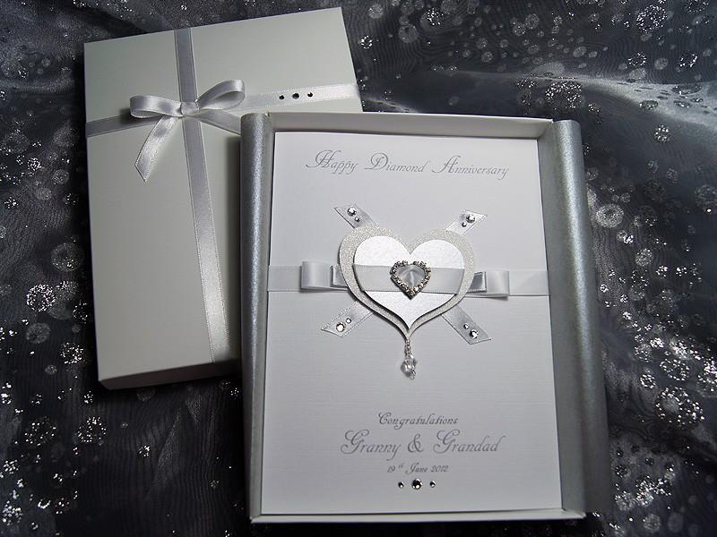Luxury Handmade Anniversary Card