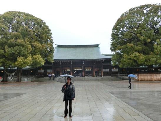大雨中的明治神宮
