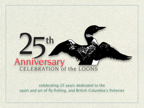 LFFC 25th Anniversary logo ~ design by Richard Mayer :: The LOONS Flyfishing Club