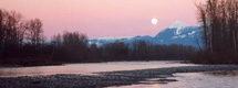 Vedder River moon rise by Kevin Mayer :: The LOONS Flyfishing Club