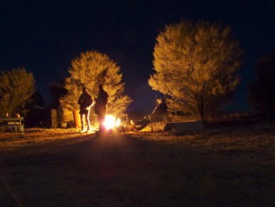 camp fire at Finke