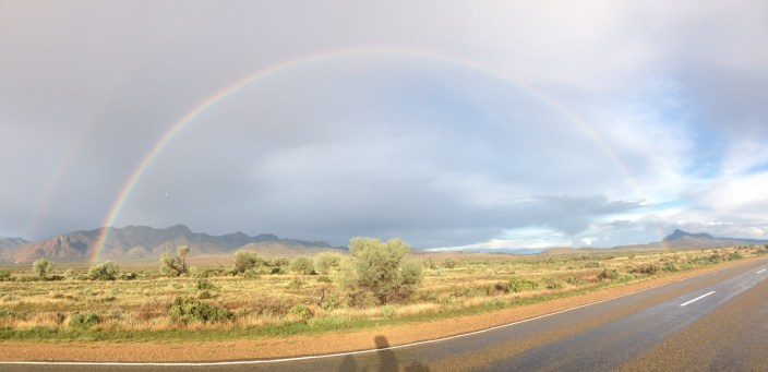 look at that beauty...have you experienced this - riding along with a rainbow and its following you??...sure i was not on anything!