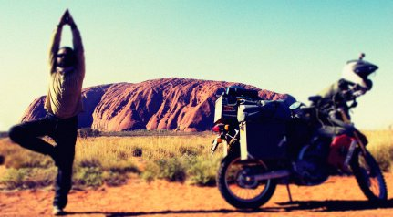 taking a moment at the Rock...Uluru.