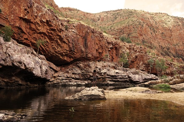 Water hole, freezing water, fresh water in the desert, perfect time for a dip!