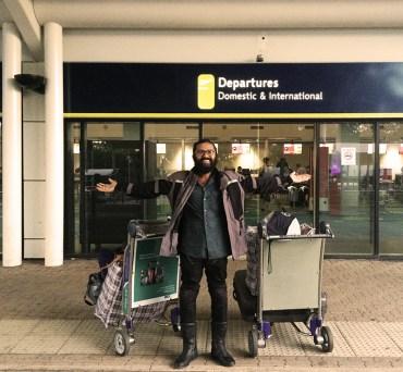 Extra luggage, clean gear, fresh, ready to roll again