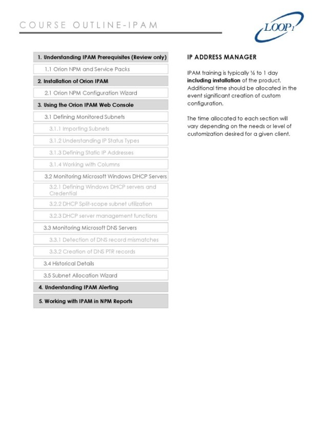 IPAM_Course Outline