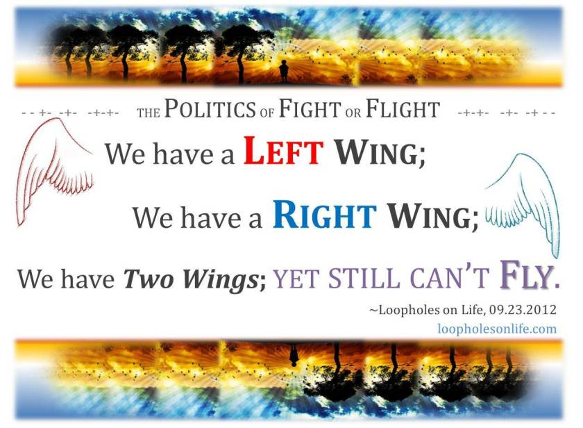 Right Wing; Left Wing; Still Can't Fly.