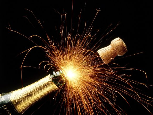 The record may be corky, but the champaign bottle aint! Congratulations on your continued success in 2013!