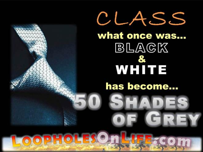 CLASS was once black and white, now its fifty shades of grey!