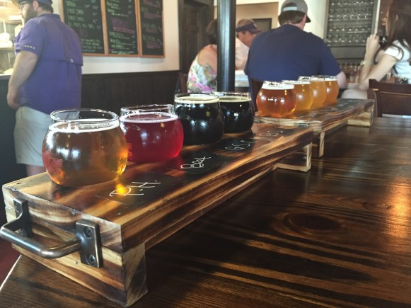 Colorful Beer Flights
