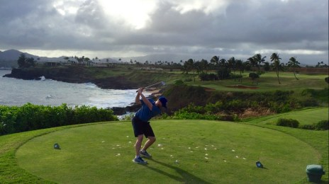 Par 3 on the ocean cliff