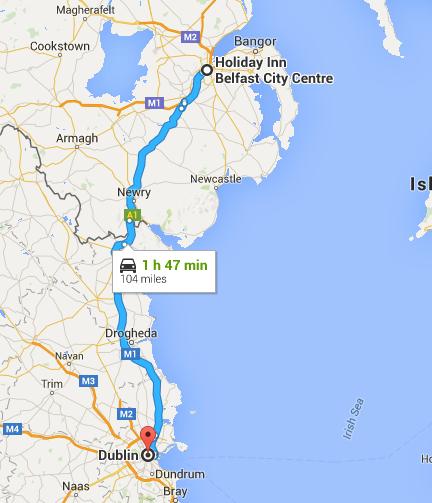 Belfast to Dublin