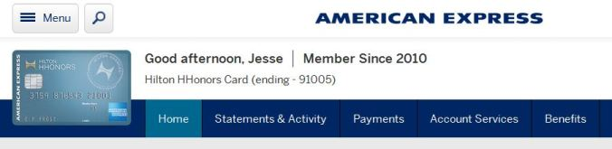 Amex upgrade offer