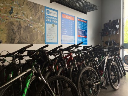 Lots of bikes to choose from.