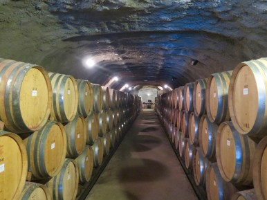Inside the wine cave.