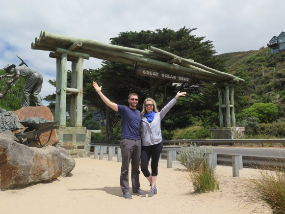 Riding on the Great Ocean Road