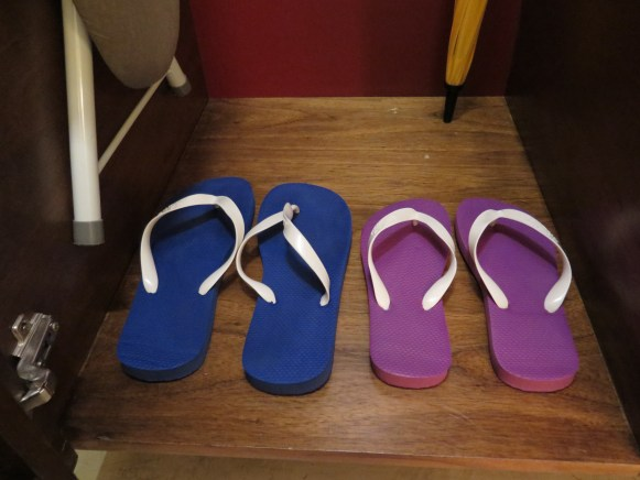 Complimentary His and Hers Flip Flops