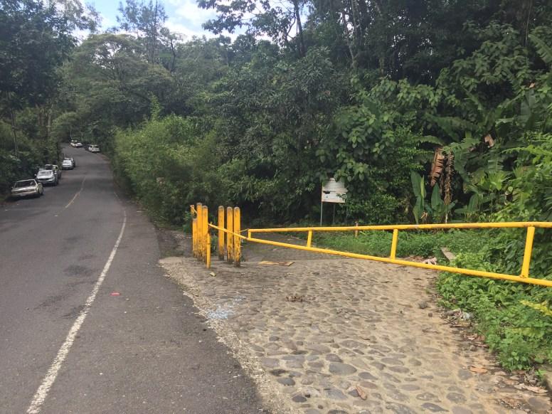 Yellow Gate on Roadside