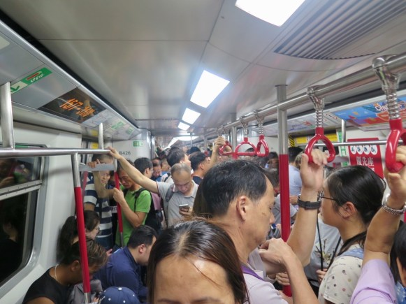 Super-crowded subway
