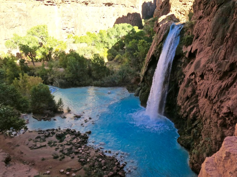 View from the trail as you come up on Havasu Falls