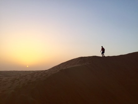 Sandboard in the Desert