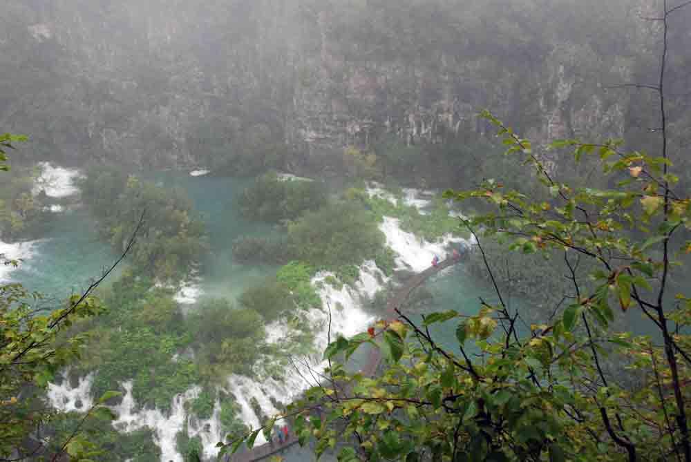 Kroatien, Plitvicer Seen, auch bei Regen schön