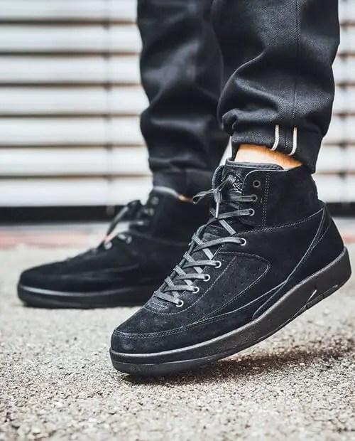 Jordan 2 all black shoelaces