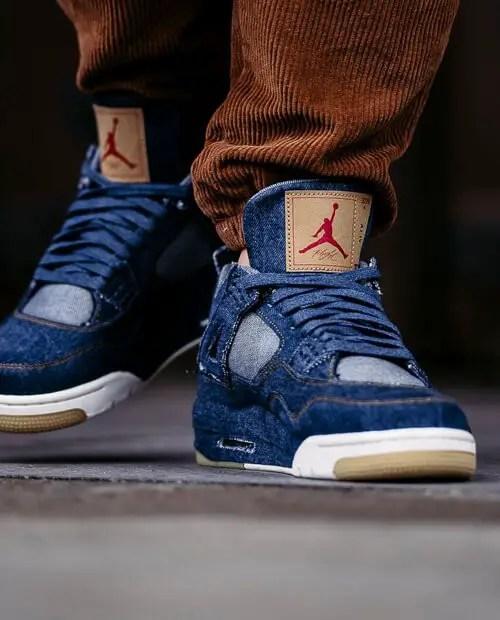 Jordan 4 blue levis