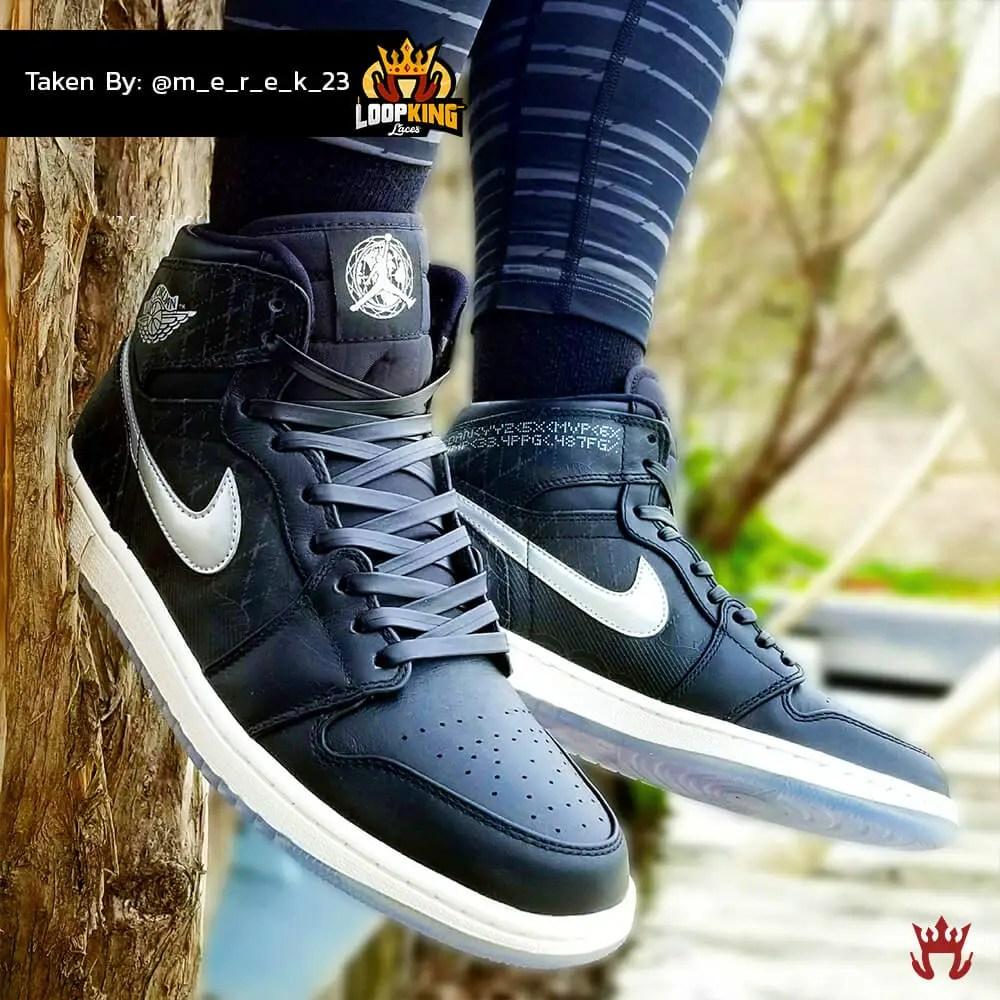 black leather shoelaces on jordan unloved 3