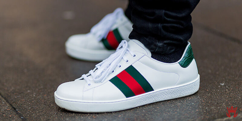 guccis tennis shoes with gucci classic stripes