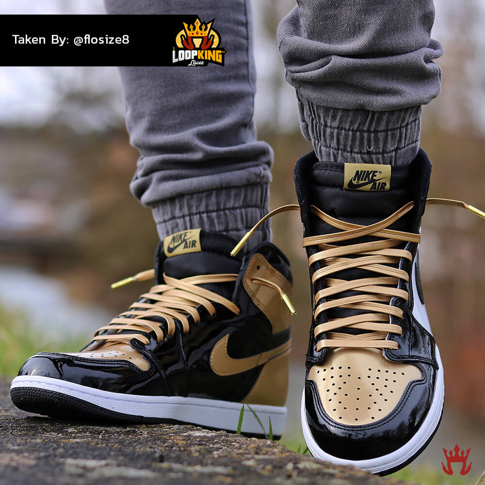 94285bbacae825 promo code for loop king laces gold leather shoelaces on gold toe jordans 8  a2a2d 80816