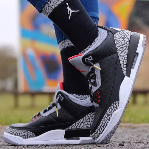 clearance jordan 3 tinker shoelaces 9f59e 5f937  australia nike air jordan 3  black cement 4a0b2 c0b4b 9ca572164