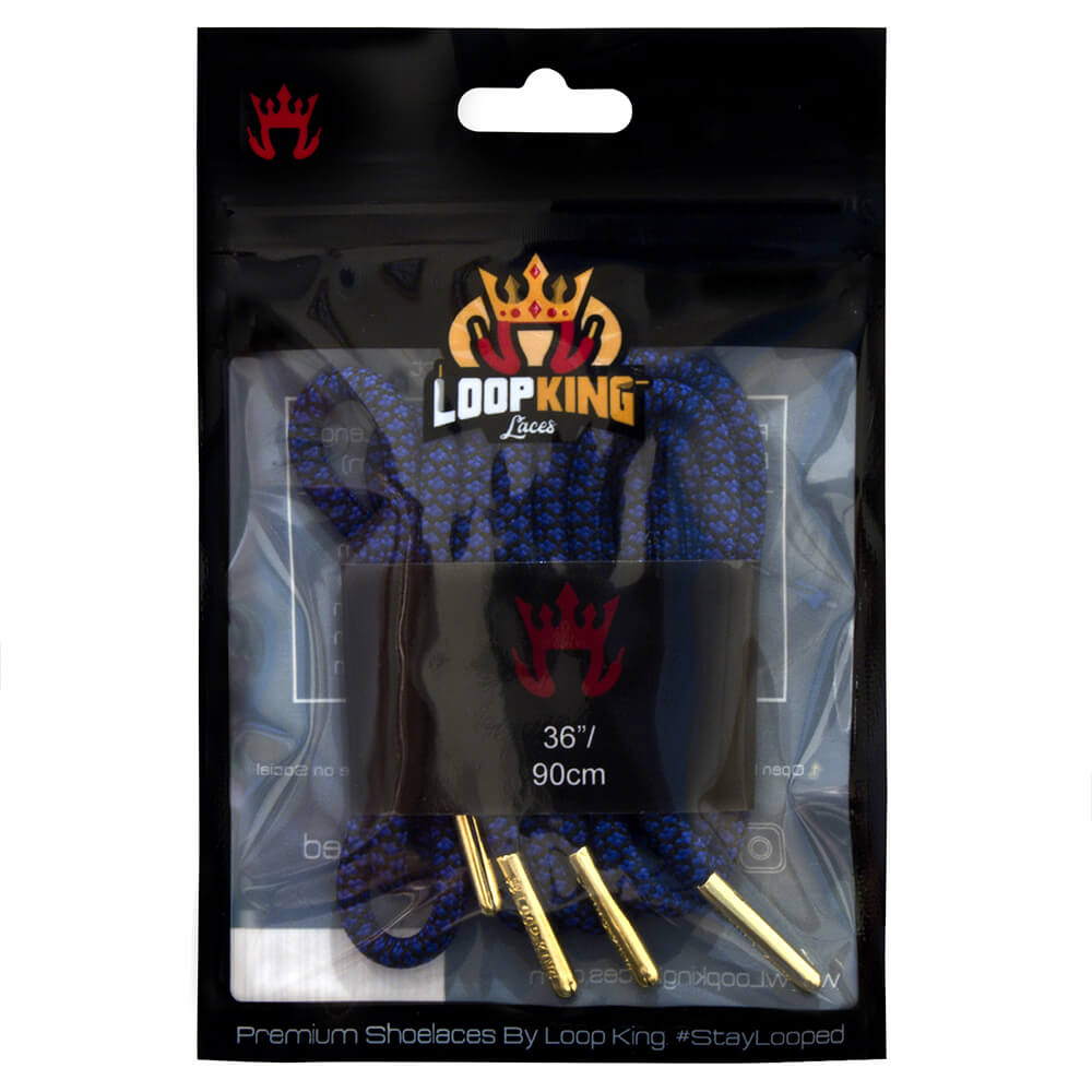 rope blue black shoe laces packaging