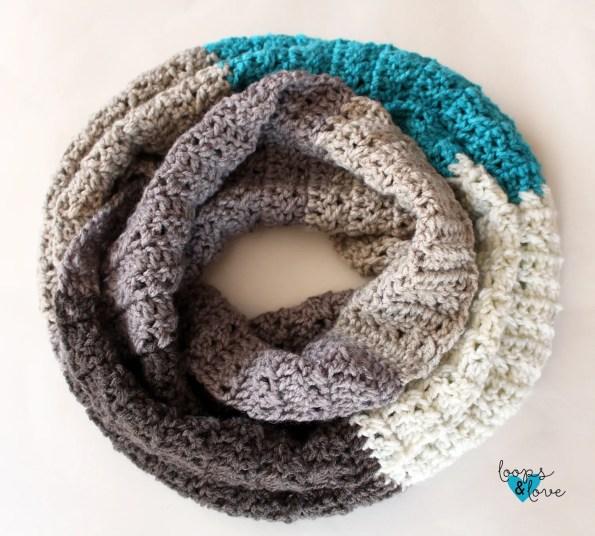 Criss Cross Stitch Infinity Scarf Loops Love Crochet